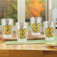 Insulated Sunflower Tumblers - Set of 4 - 39441