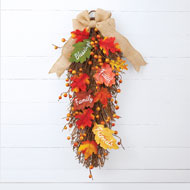 Inspirational Fall Leaves Swag - 39468