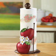 Metal Apple Blossom Paper Towel Holder - 39523
