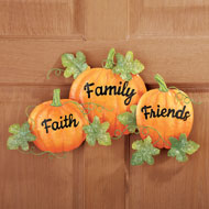 Faith Friends and Family Pumpkin Wall Decor - 39536