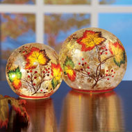 Lighted Autumn Leaf Crackle Ball - 39542