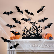 3-Dimensional Halloween Bat Decals - Set of 12 - 39594