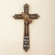 God Bless Our Family Wall Cross - 39597
