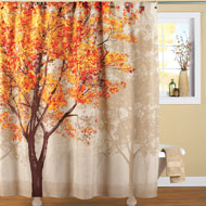 Colorful Autumn Tree Shower Curtain