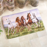 Western Galloping Horse Cushioned Bath Mat - 39609