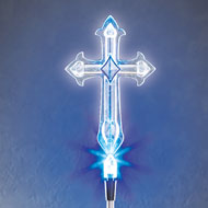 Cross Solar Light Garden Stake - 39632