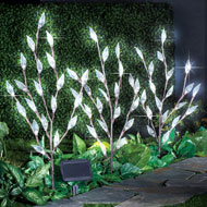 Leaf Branch Solar Garden Lights - Set of 3 - 39638