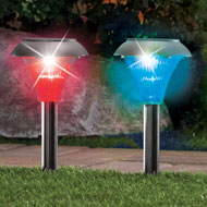 Color Changing Solar Pathway Stakes - Set of 6 - 39639