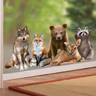 Northwoods Forest Animals Window Cling - 39685