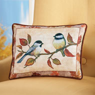 Chickadees on Branch Accent Pillow - 39750