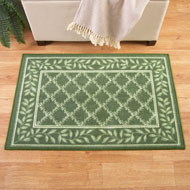 Two-Tone Leaf Lattice Rug - 39759