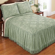 Cynthia Chenille Bedspread with Fringe Skirt - 39833