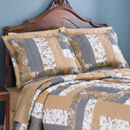 Patchwork Caledonia Grey Pillow Shams Set - 39846