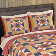 Geometric Star Patchwork Pillow Sham - 39852