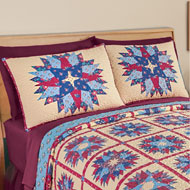 Colorful Country Starburst Patchwork Pillow Sham - 39853
