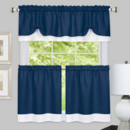 Darcy Two-Tone Cafe Curtain Tier Set - 39860
