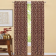 Scrolling Leaves Design Curtain Panel - 39864