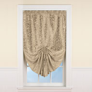 Scroll Pattern Pull Up Window Shade - 39869