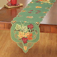 Embroidered Falling Leaves Table Linens - 39911