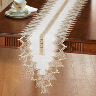 Embroidered Lace Design Table Linens