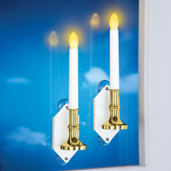 Set of 2 Solar Power Window Candlesticks - 39948