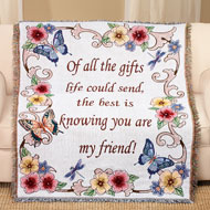 My Friend Floral Tapestry Throw - 39957