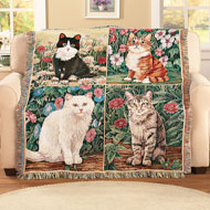 Garden Cats Tapestry Throw - 39960