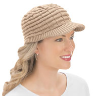 Ribbed Knit Brimmed Hat - 39969