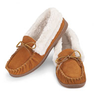 Faux Suede Plush Lined Moccasins - 39976