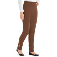 Buttoned Cinch Ankle Leggings