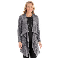 Lace Cascade Open Front Cardigan Jacket - 40141