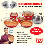 Gotham Steel Red Cookware Set - 10 pc - 40283