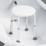 Height Adjustable Bath and Shower Compact Stool