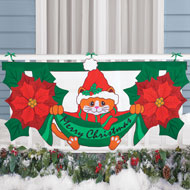 Holiday Cat Christmas Bunting Decoration - 40350