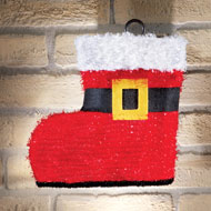 Santas Boot Christmas Porch Light Cover Set - 40353