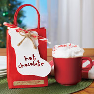 Peppermint Fudge Hot Chocolate Mix Gift Bag - 40400