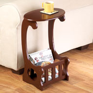 Magazine Storage Accent Table - 40409