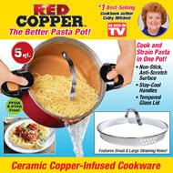 Red Copper Better Pasta Pot with Lid - 40499