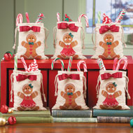 Gingerbread Christmas Treat Bags Set - 40529