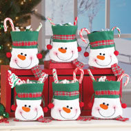 Snowman Christmas Treat Bags Set of 6 - 40531