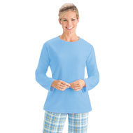 Fleece Pajama Set with Plaid Pants - 40544