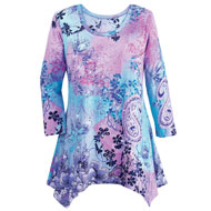 Paisley Sharkbite Tunic Sequin Top