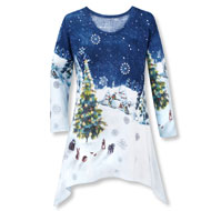Woodland Winter Scene Christmas Tunic - 40567