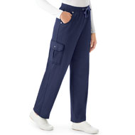 French Terry Elastic Waist Cargo Pant - 40578