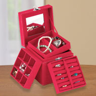 Multi Compartment Jewelry Box Organizer - 40601