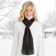 Pull Through Fringe Winter Scarf - 40642