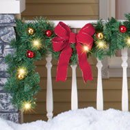 Decorated Solar Lighted Christmas Garland - 40655