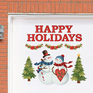 Snow Couple Holiday Greetings Garage Magnets - 40678