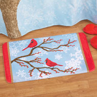Winter Cardinals Christmas Bath Rug - 40688