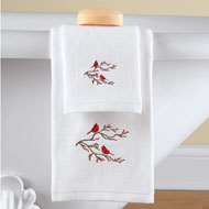 2pc Winter Cardinal Bathroom Towel Set - 40689